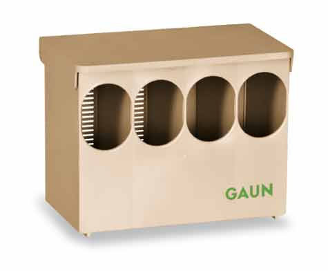 Krmítko pro křepelky, kuřata, holuby a koroptve se 4 otvory podlahové plastové