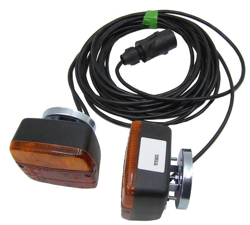 Magnetická koncová světla pro přívěsy, přívěsné vozíky třífunkční