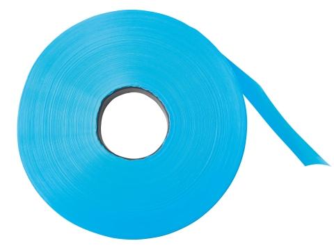 Signální plastová páska na elektrický ohradník k sítím proti zvěři modrá 250 m