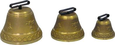Pastevní zvonec litý z mosazi