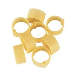 Fotografie Zámkové kroužky na slepice a kachny 16 mm žlutý 20 ks