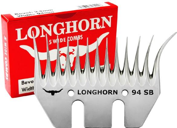 Spodní široký nůž Longhorn Wide SB 35/97 mm krátký úkos na stříhání ovcí pro leváky