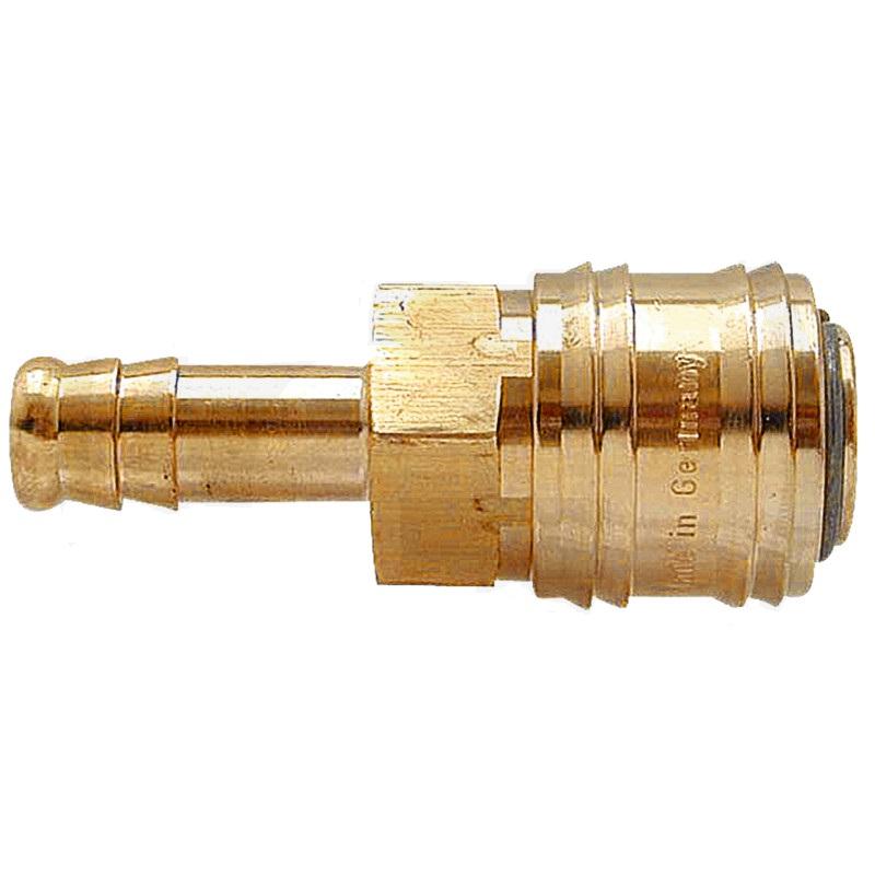 """Mosazná rychlospojka 6 mm - 1/4"""" s hadicovým přípojem pro pneumatické nářadí"""