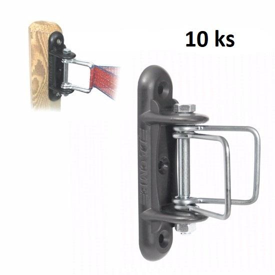 Rohové napínací izolátory pro pásku IRUANGLE pro elektrický ohradník balení 10 ks