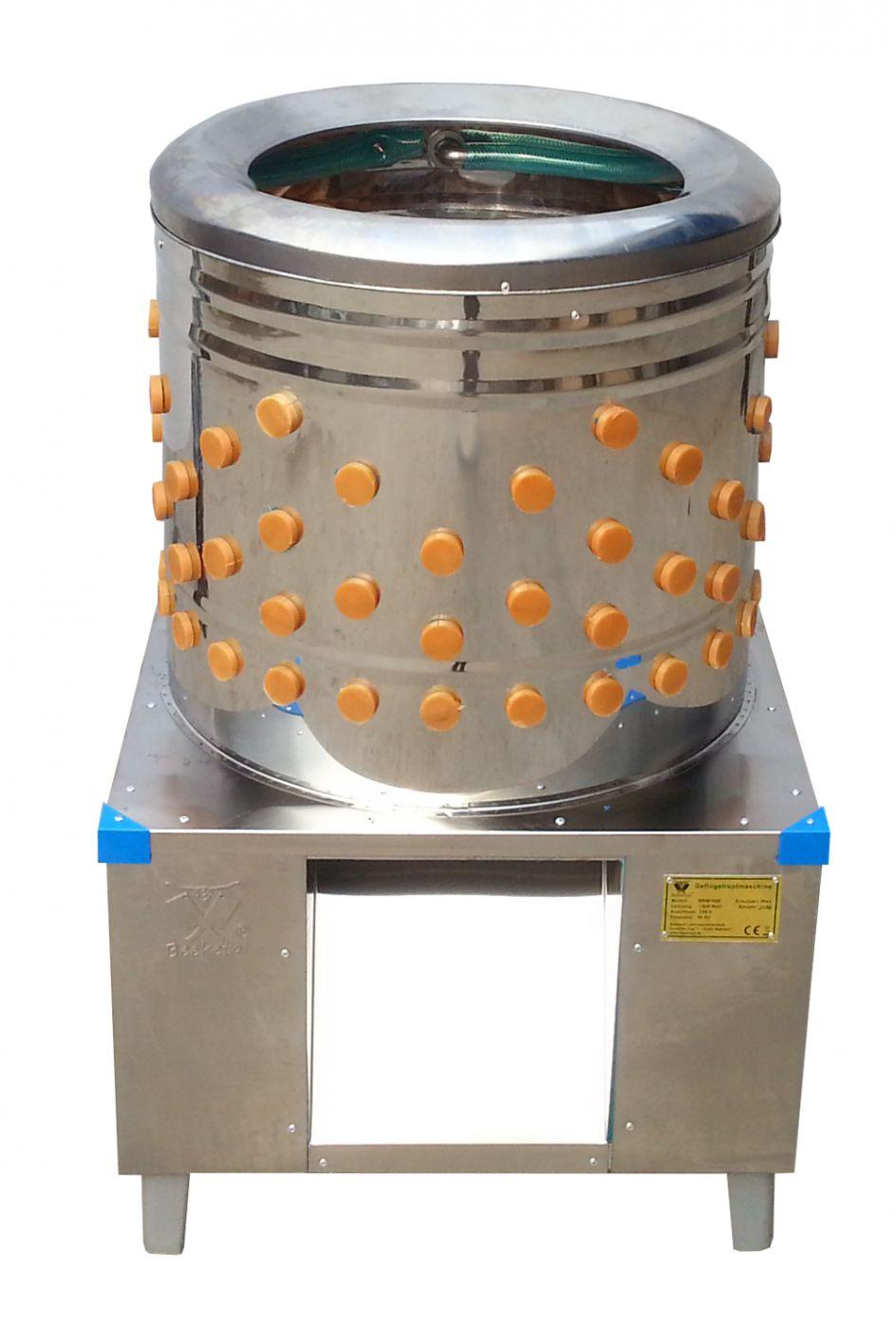 Škubačka drůbeže bubnová BEEKETAL BRM 1600 na kuřata, kachny 142 prstů