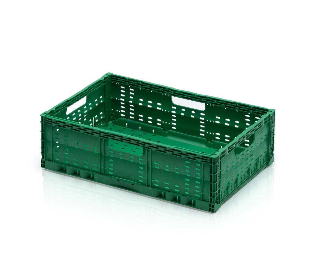 Skládací plastová přepravka na ovoce a zeleninu střední nosnost 15 kg