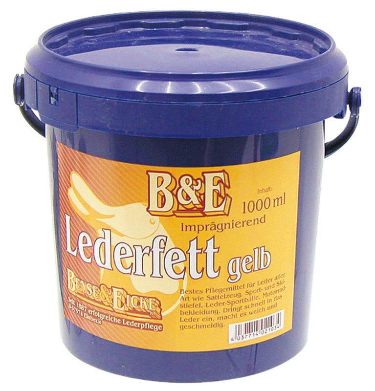 Tuk na kůži s vazelínou žlutý B&E 1000 ml