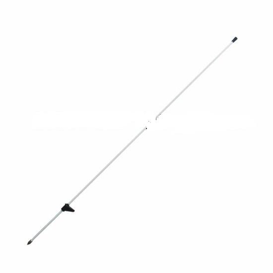 Sklolaminátová tyčka, tyč 160 cm pro elektrický ohradník s nášlapkou ocelový hrot