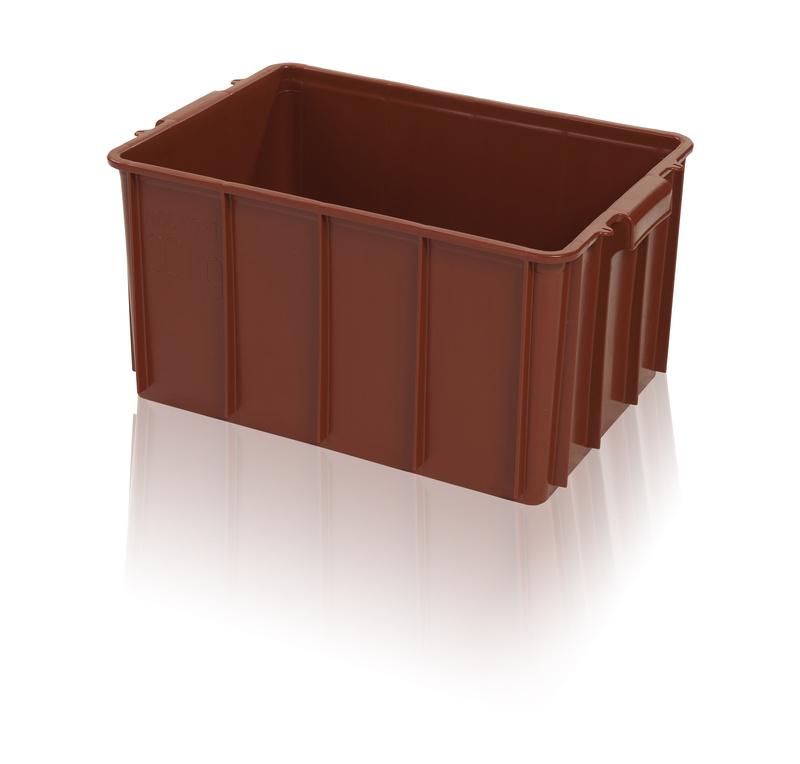 Plastová přepravka na maso, potraviny a víno T50 nosnost 30 kg, regranulát