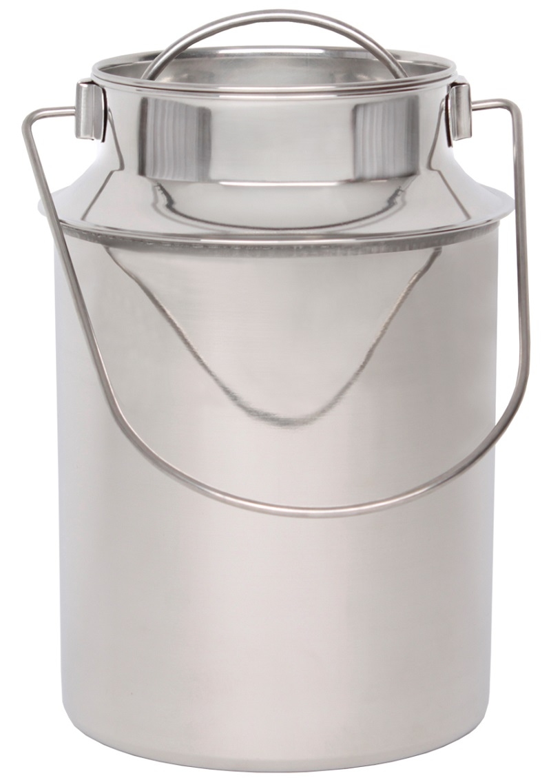 Nerezová přepravní konev na mléko  BEEKETAL BMK-6 na 3,5 l včetně víka