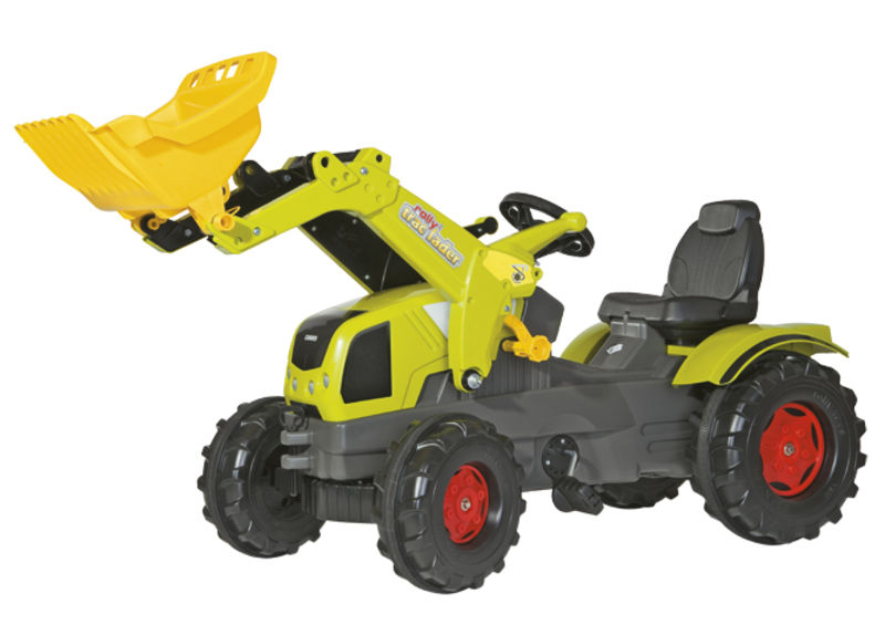 Rolly Toys - šlapací traktor s čelním nakladačem Claas Axos 340 Lader Rolly FarmTrac
