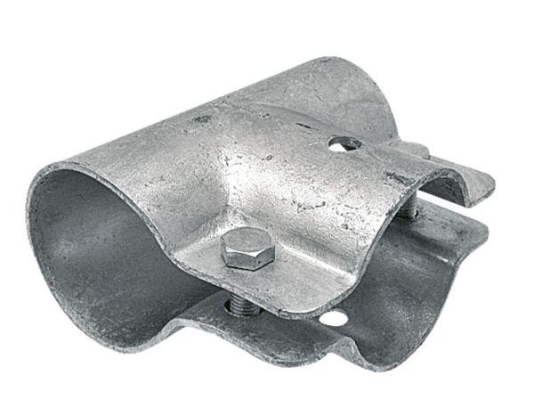Stájová trubková T spona jednodílná se 2 šrouby průměr A 48 mm B 34 mm