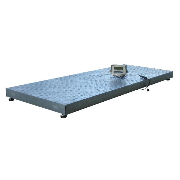 Plošinová váha Agreto 0,8 x 2 m na 2000 kg s indikátorem HD1 můstková, veterinární