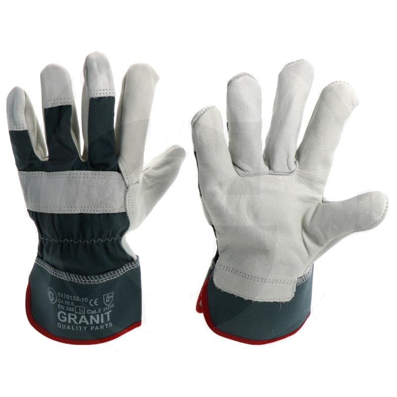 Pracovní rukavice celokožené z hovězí kůže velikost 10 norma  EN 388