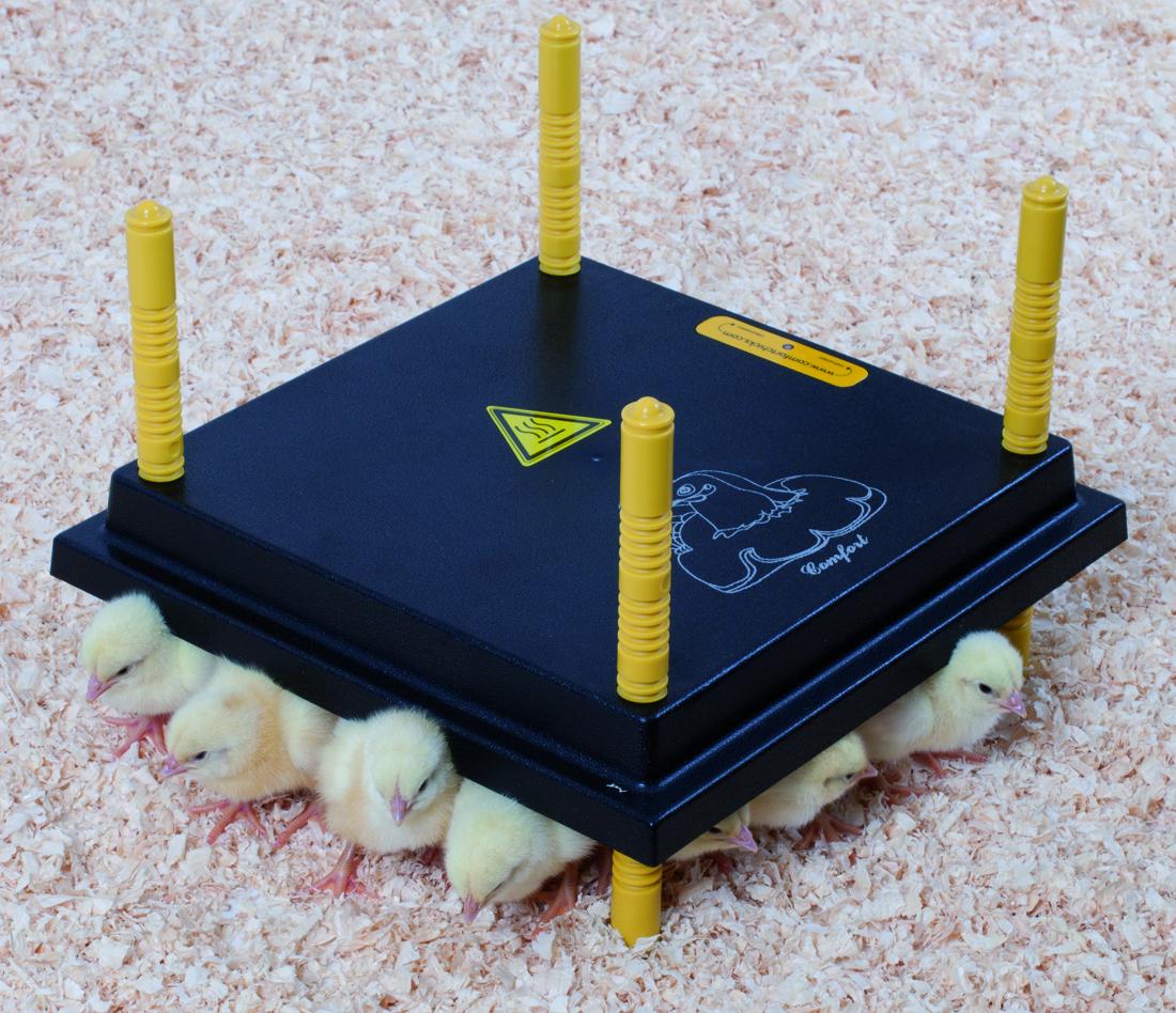 Výhřevný panel HEN pro 15-20 kuřat 13W, umělá elektrická kvočna 25 x 25 cm