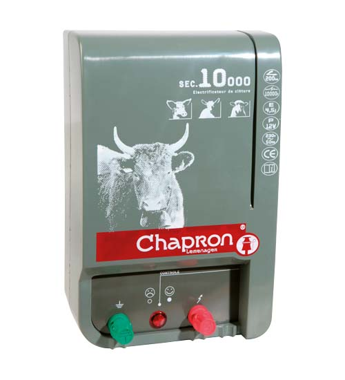 Chapron SEC 10 000 síťový 230V zdroj napětí pro elektrický ohradník, 5J