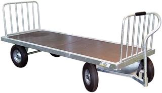 Ruční vozík kovový La GÉE čtyřkolový na balíky sena a slámy bez přední a zadní zábrany