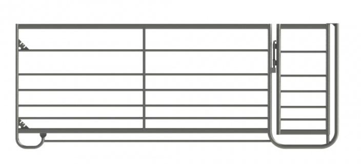 Ovčí ohradní panel s brankou 2,4 m spojovaný řetízky