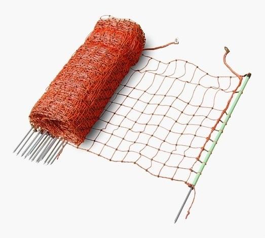 Vodivá ovčí, drůbeží síť ExtraNet 112 cm/50 m s jednoduchým hrotem pro elektrický ohradník