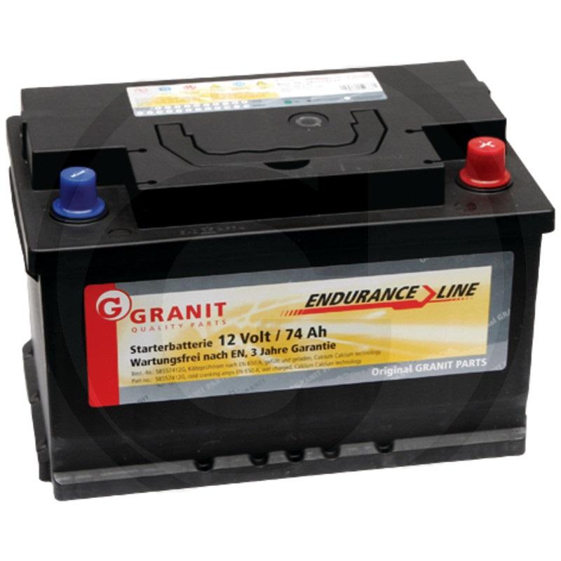 Auto baterie Granit Endurance Line 12V / 74 Ah, patice B03/B04 pro Deutz-Fahr, Same