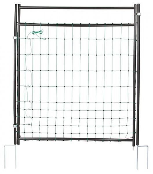 Vodivá brána pro sítě pro ovce, kozy, drůbež výška 125 cm 2 hroty pro elektrický ohradník