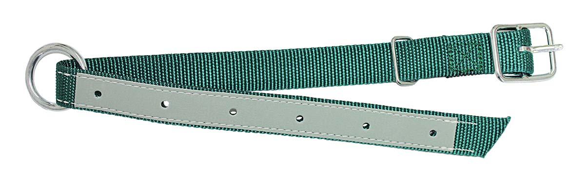 Obojek pro berany a telata šířka 30 mm, délka 70 cm, zelený, podložený kůží
