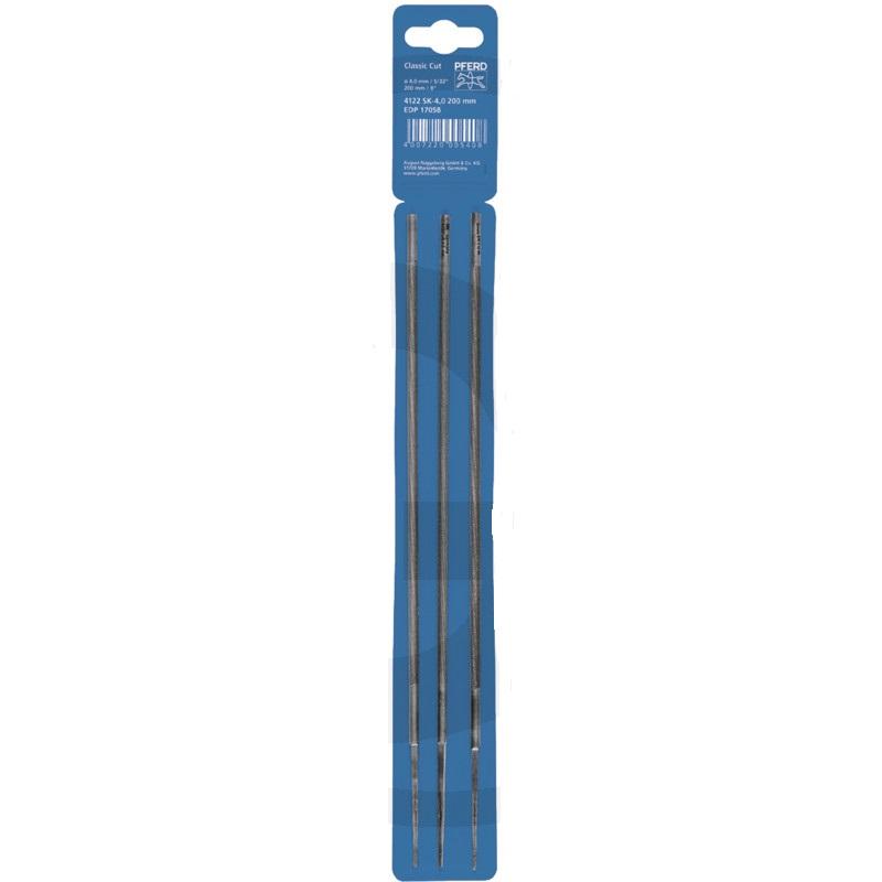 """Kulatý pilník PFERD na pilové řetězy 3/8"""" + 0.404"""" Profi průměr 5,5 mm balení Shop 3 ks"""